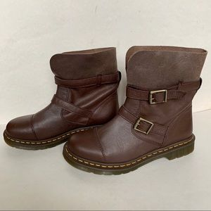 Dr. Martens brown Leather Kristy boots
